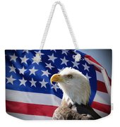 Bald Eagle And American Flag Weekender Tote Bag