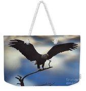Bald Eagle And Clouds Weekender Tote Bag
