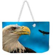 Bald Eagle And Fledgling  Weekender Tote Bag