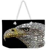 Bald Eagle Art - Eagle Eye - Stone Rock'd Art Weekender Tote Bag by Sharon Cummings