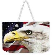 Bald Eagle Art - Old Glory - American Flag Weekender Tote Bag