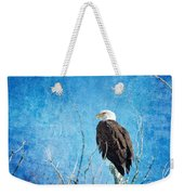 Bald Eagle Blues Weekender Tote Bag