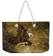 Bald Eagle Capture Weekender Tote Bag