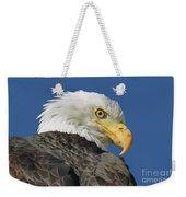 Bald Eagle Closeup Weekender Tote Bag