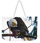 Bald Eagle Eating It's Prey Weekender Tote Bag