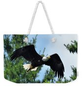 Bald Eagle Feeding 2 Weekender Tote Bag
