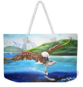 Bald Eagle Having Dinner Weekender Tote Bag