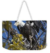 Bald Eagle On Nest Near The Oxbow Weekender Tote Bag