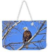 Bald Eagle Perched Weekender Tote Bag
