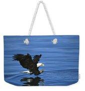 Bald Eagle Striking Kenai Peninsula Weekender Tote Bag