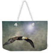 Bald Eagle Textured Art Weekender Tote Bag