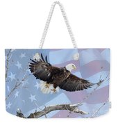 Bald Eagle Touch Of Pride Weekender Tote Bag