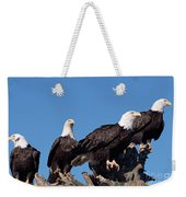Bald Eagles Quartet Weekender Tote Bag
