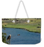 Baldy And Bull Weekender Tote Bag