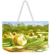 Bales In The Morning Sun Weekender Tote Bag by Kip DeVore