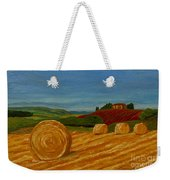 Field Of Golden Hay Weekender Tote Bag