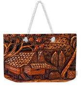 Bali Wood Carving Weekender Tote Bag