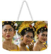 Balinese Dancers Weekender Tote Bag by David Smith