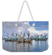 Balinese Fishing Boats Weekender Tote Bag