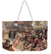Ball At The Court, Illustration Weekender Tote Bag