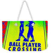 Ball Player Crossing Weekender Tote Bag