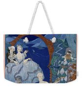 Ball Under The Blue Moon Weekender Tote Bag by Georges Barbier