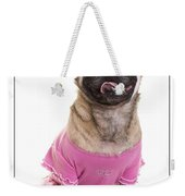 Ballerina Pug Dog Weekender Tote Bag