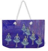 Ballerina Rehearsal Weekender Tote Bag