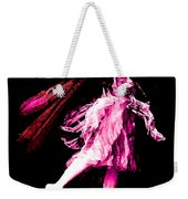 Ballerina Wings Pink Portrait Art Weekender Tote Bag