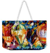Balloon Parade - Palette Knife Oil Painting On Canvas By Leonid Afremov Weekender Tote Bag