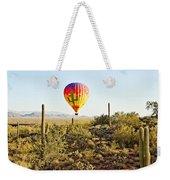 Balloon Ride Over The Desert Weekender Tote Bag