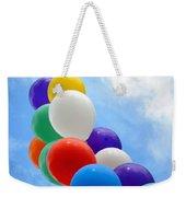 Balloons Against A Cloudy Sky Weekender Tote Bag
