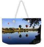 Balloons Heading East Weekender Tote Bag by Carol Groenen