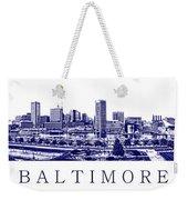 Baltimore Blueprint Weekender Tote Bag