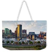 Baltimore Harbor Skyline Panorama Weekender Tote Bag