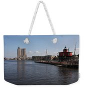 Baltimore Harbor With Seven Foot Knoll Light Weekender Tote Bag