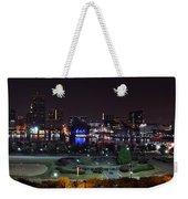 Baltimore Inner Harbor Skyline Night Panorama Weekender Tote Bag