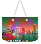 Baltimore Maryland Skyline Weekender Tote Bag