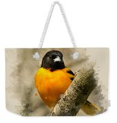 Baltimore Oriole Watercolor Art Weekender Tote Bag