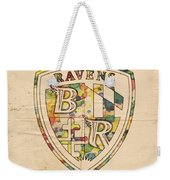 Baltimore Ravens Logo Art Weekender Tote Bag