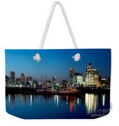Baltimore Skyline At Dusk Weekender Tote Bag