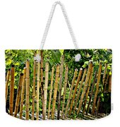 Bamboo Fencing Weekender Tote Bag by Lilliana Mendez