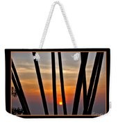 Bamboo Sunset - Black Frame Weekender Tote Bag
