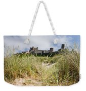 Bamburgh Castle From The Dunes Weekender Tote Bag