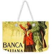 Banca Italiana Di Sconto, 1917 Weekender Tote Bag