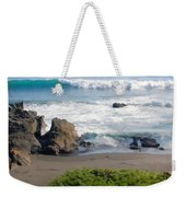Bands Of Green Brown And Blue Of The Beach Weekender Tote Bag
