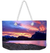 Banff Sunrise Six Minutes Later Weekender Tote Bag