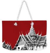 Bangkok Thailand Skyline Grand Palace - Dark Red Weekender Tote Bag