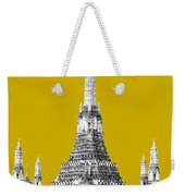 Bangkok Thailand Skyline Wat Arun - Gold Weekender Tote Bag