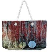 Banjos Against A Barn Door Weekender Tote Bag